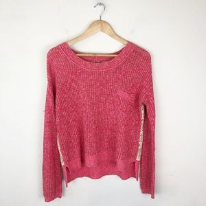 Free People Sweet Jane Crochet Back Sweater